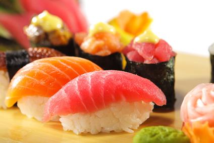 Sushi ist ein beliebter Teil der Reis Diät